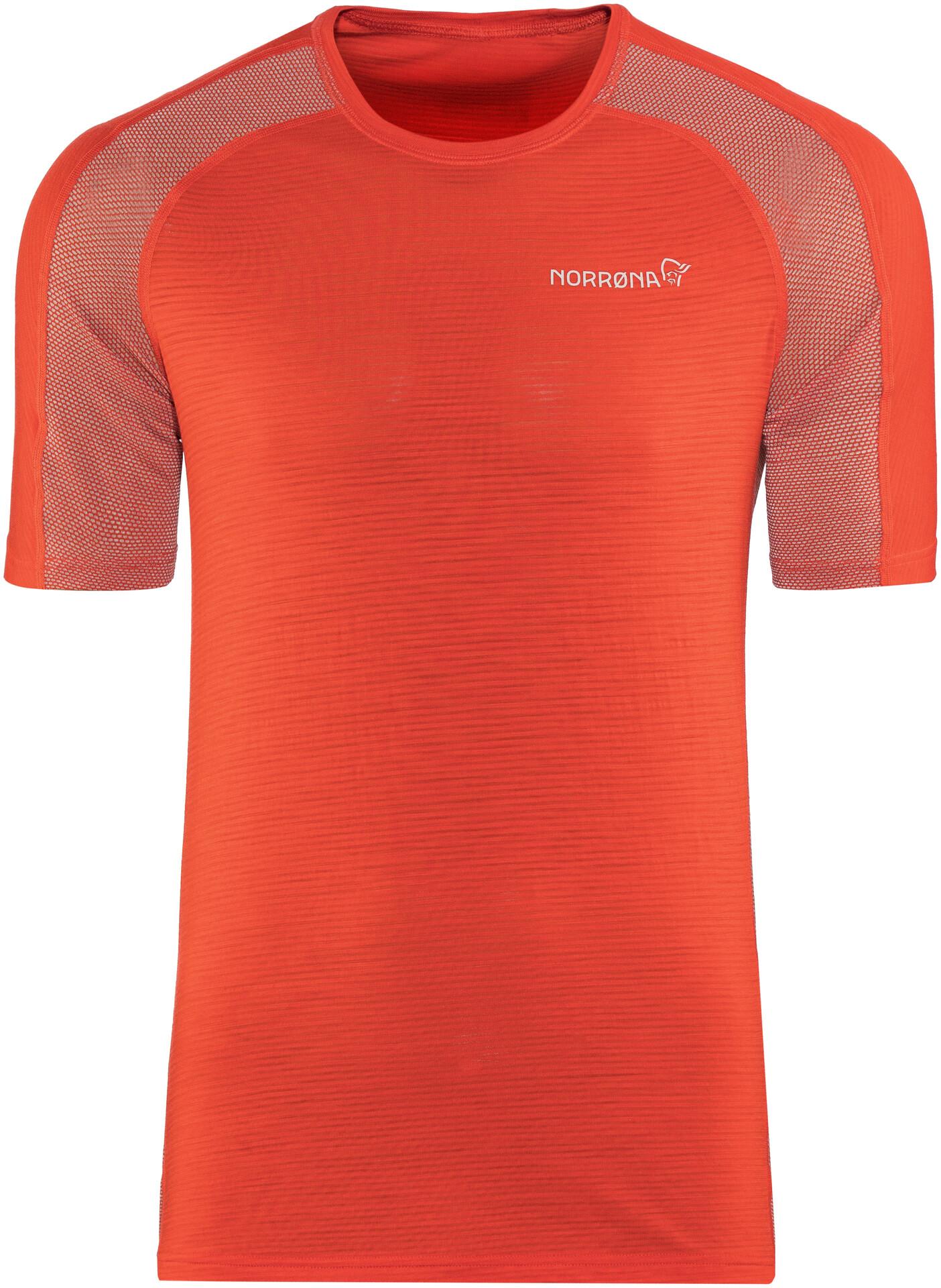 Norrøna M's Bitihorn Bitihorn Bitihorn Wool T-Shirt Tasty Röd 780b45